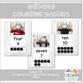 Number Wall Posters Editable For Real Pictures (Farmhouse) ECERs