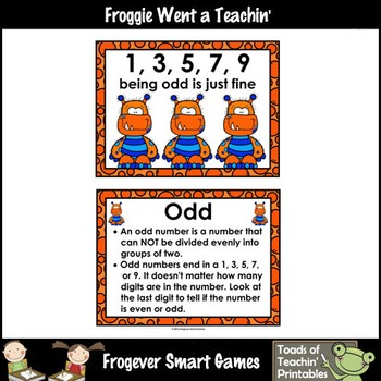 "Number Wall Posters/Headers--Number Sense ""Monster Buds"" (orange)"