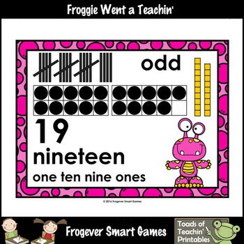 """Number Wall Posters/Headers--Number Sense """"Monster Buds"""" (pink/yellow)"""