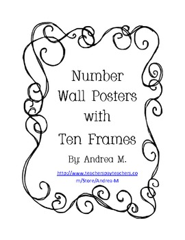 Number Wall Posters with Ten Frames - No Border