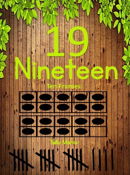 Number Wall Signs: Numbers 1-20 (Wooden Background)