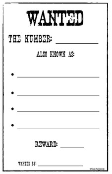 Number Wanted Poster
