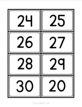 Number War to 30 (A Number Sense Game)