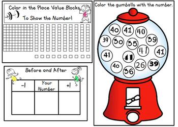 Number Warm-Ups 1-100: No Prep Morning Work or Math Center