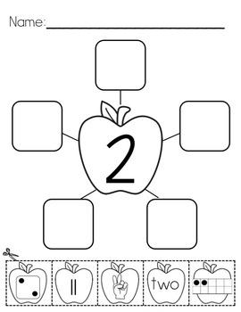 Number Webs 0-10 Cut & Paste - Apple Theme {Common Core Aligned}