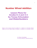 Number Wheel Addition  Lesson Plans for Grades K-2 and 3-4
