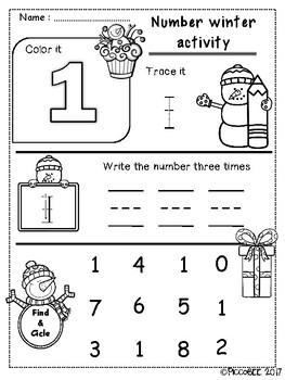 Number Winter Activity