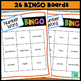 Number Word 1-20 BINGO