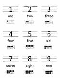 Number Word 10s Frame Cards - Number Recognition