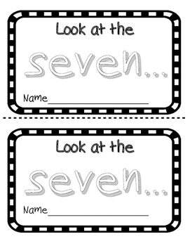 Number Word 7 Sight Word Reader