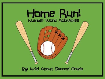 Number Word Activities- Baseball Theme
