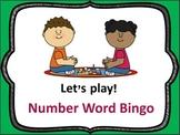 Number Word BINGO