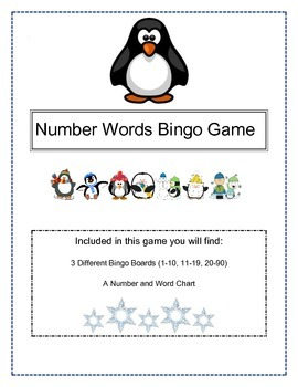 Number Word Bingo Game