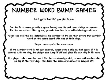 Number Word Bump