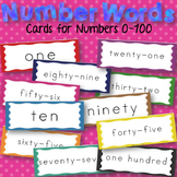 Number Word Cards Zero to One Hundred Math Set