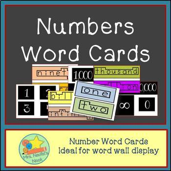 Number Word Wall Cards