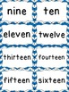 Number Word Cards - Blue Chevron Style - Perfect for Decor and Word Walls