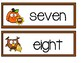 Number Word Cards - Fall Set