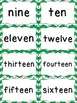 Number Word Cards - Green Chevron Style - Perfect for Clas