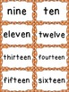 Number Word Cards - Orange Polka Dot Style - Perfect for Decor and Word Walls