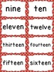 Number Word Cards - Red Polka Dot Style - Perfect for Decor and Word Walls