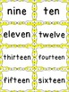 Number Word Cards - Yellow Chevron Style - Perfect for Cla
