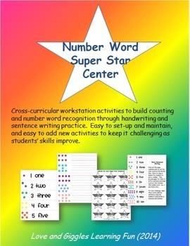 Number Word Center Activities - Cross-Curricular Work Station Activities