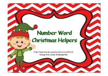 Number Word Christmas Helpers
