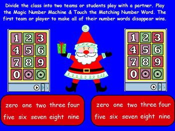 Number Word Christmas for ActivBoard
