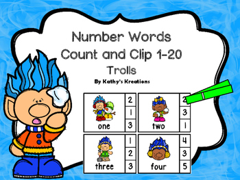 Number Word Clip Cards 1-20
