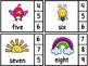 Number Word Clip Cards -Spring