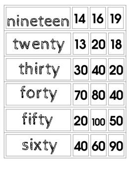 Number Word Clip-Ons