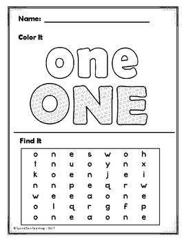 Number Word Do It! Trace, Write, Color, Find, Cut and Glue It!