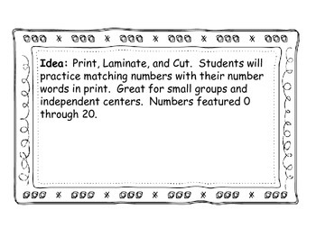 Number Word Dominoes