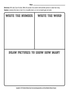 Number Word Draw Math Center Activity