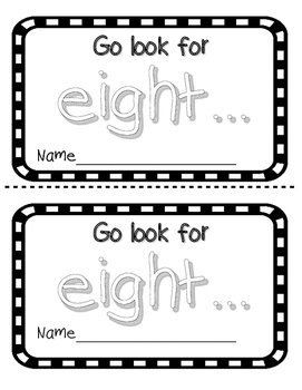 Number Word EIGHT Sight Word Reader