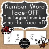 Number Word Face Off Math Game Reading Number Words to 20 for K-3