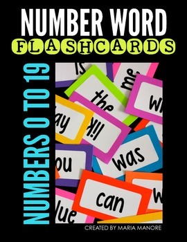 Number Word Flashcard Labels