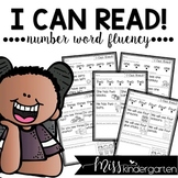 Sight Words Practice Number Words Fluency SEESAW and GOOGL