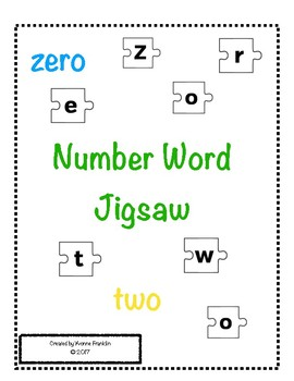 Number Word Jigsaw