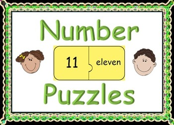 Number Word Jigsaw Puzzles: One to Thirty