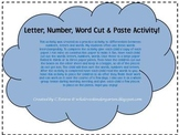 Number, Word, Letter Cut and Paste Sort Activity