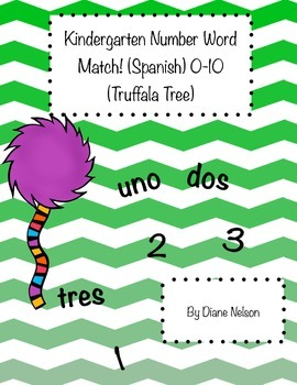 Number Word Match 0-10 (Truffala Tree) (Spanish)