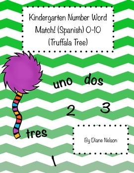 Number Word Match 0-10 (Truffala Tree) (Spanish)