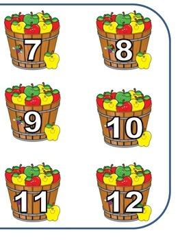 Number Word Match File Folder Game