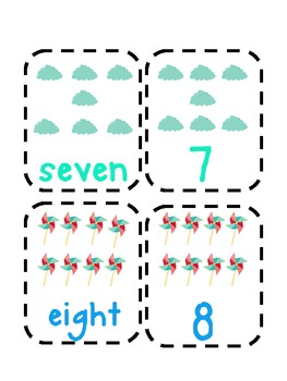 Number Word Match Up Cards
