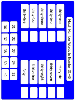 Number  Word Matching