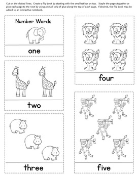Number Word Matching Cards / Zoo Theme / Montessori Style / Hands-on