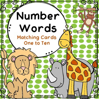 Number Word Matching Cards / Zoo Theme / Montessori Style