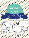 Number Word Counting Mats